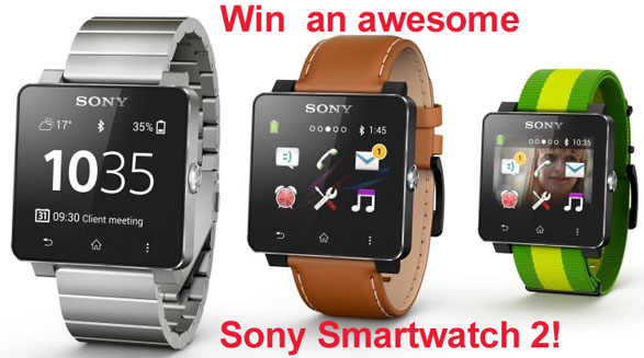 sonysmartwatch2c Red Ferret Summer Giveaway 2   win a fabulous Sony SmartWatch 2 [Giveaway]