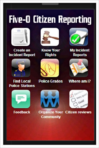 five 0 1 Five 0 Police Rating App   free app lets citizens track and rate police encounters [Freeware]