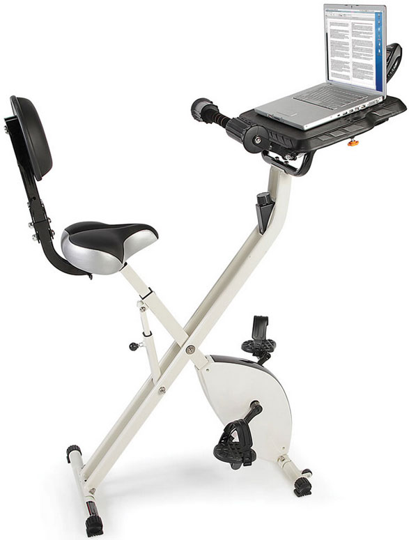 foldawayexercisebicycledesk Foldaway Exercise Bicycle Desk   the perfect combination of work, play and fitness