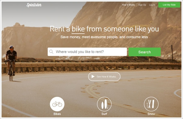 Spinlister – free app service turns your neglected bike into rental cash