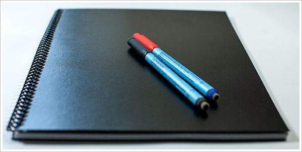 letterformsdryerasenotebook2 LetterForms Dry Erase Notebook   the cool paperless notebook you can use again and again