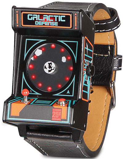 Galactic Defense Arcade Watch – retro asteroids fun on your wrist