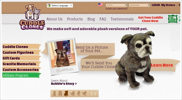Cuddle Clones – send them a photo of your pet, get a cuddly plush lookalike back in return