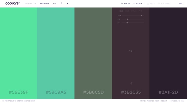 Coolors – the website that helps you pick colors with ease