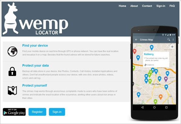 Wemp Locator – collaborative crime map helps you protect your smartphone in risky areas [Freeware]