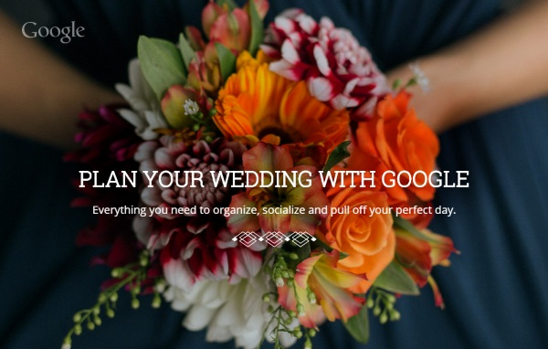 Google Weddings – take the anxiety out of planning your special day