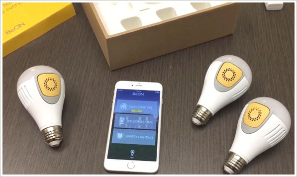 BeOn – these cool light bulbs are also a home security system