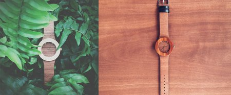 Fashionable watches combine a little retro and eco-friendly fashion