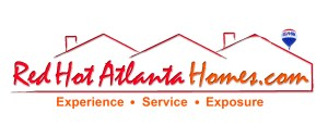 logo for real estate agents Red Hot Atlanta homes