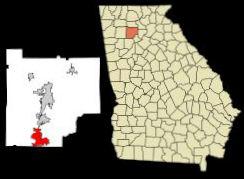 map of Woodstock GA in Cherokee County