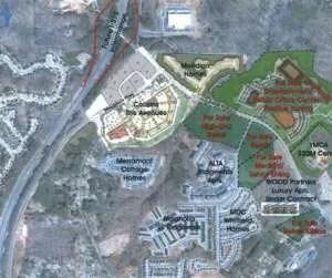 siteplan for Ridgewalk in Woodstock GA