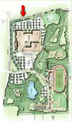 rendering for new high school in Milton GA on Bethany Bend