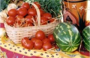 sample produce at woodstock farmers market