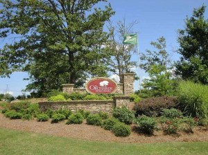 entrance to The Orchards of East Cherokee Woodstock GA