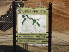 Greenprints trail system at Olde Rope Mill Park in Woodstock GA