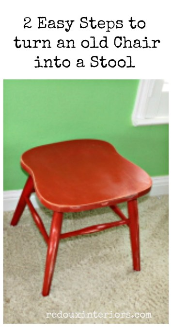 Chair to Stool Pinterest