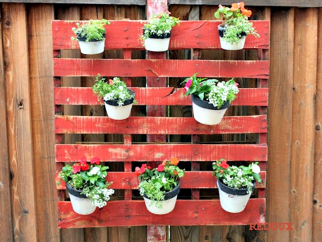 Wood Pallet Planter by Redouxinteriors