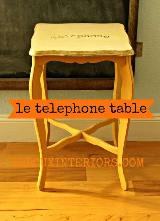 Petit Telephone Table Redoux Interiors