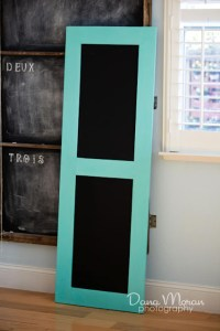 How to Make a Door Chalkboard from a bunch of junk