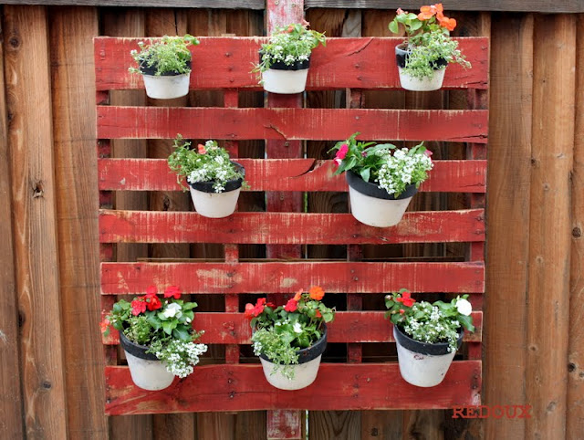 Pots on Wooden Pallet