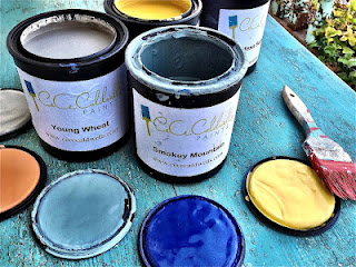 CeCe Caldwell's paint cans