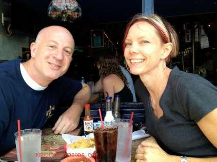 Mark and Karen lunc in Coronado