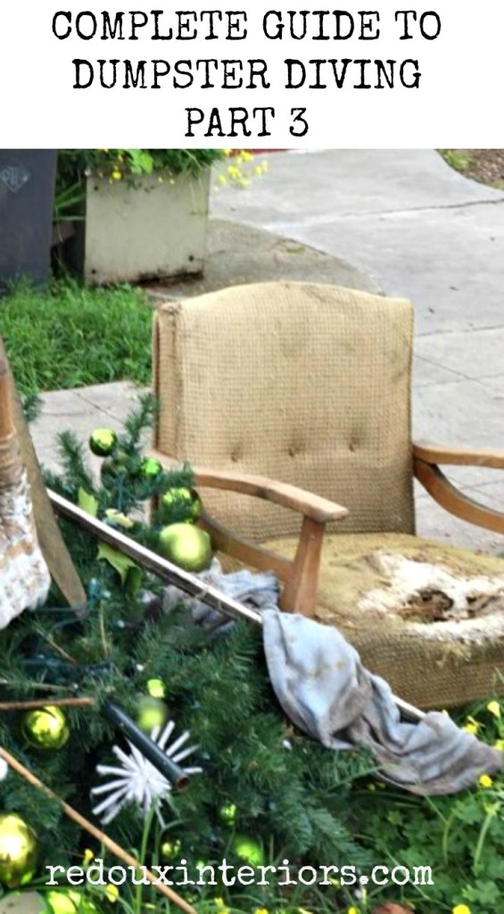 Complete Guide to Dumpster Diving Part 3 Redouxinteriors