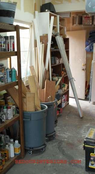 Scrap wood bins