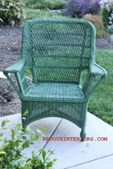 Green Wicker Chair 1