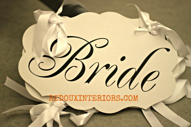 Bride sign redouxinteriors