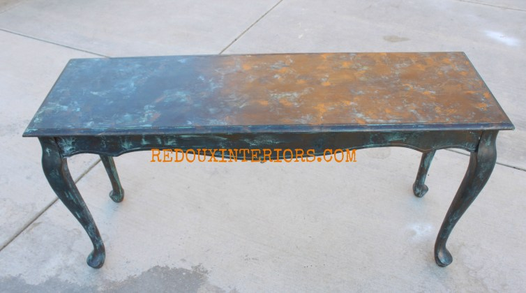 Copper Patina Table Redouxinteriors 2