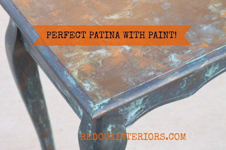 Copper Patina Table top redouxinteriors