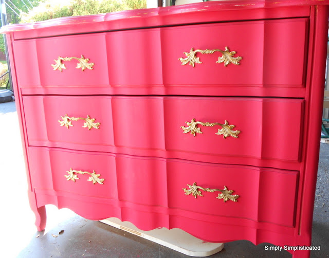 Simply Simplisticated Red Dresser