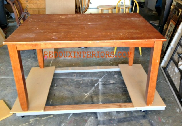 Dining Table to Work Table before 2 Redouxinteriors