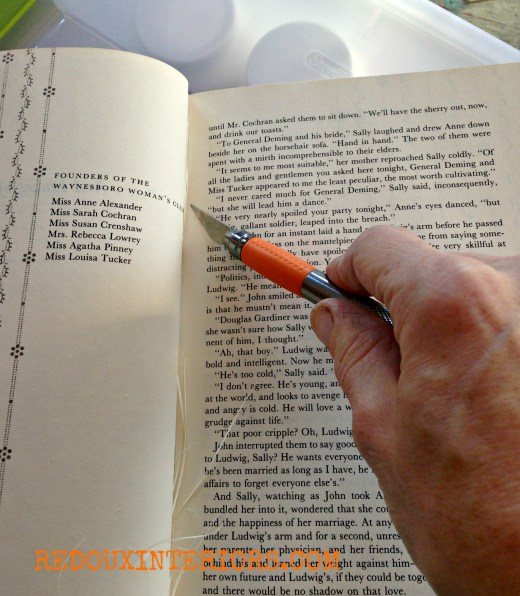 how to cut book pages  redouxinteriors