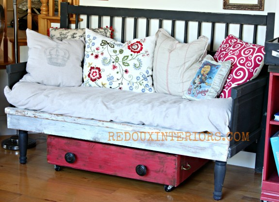 Bench and drawer from junk redouxinteriors