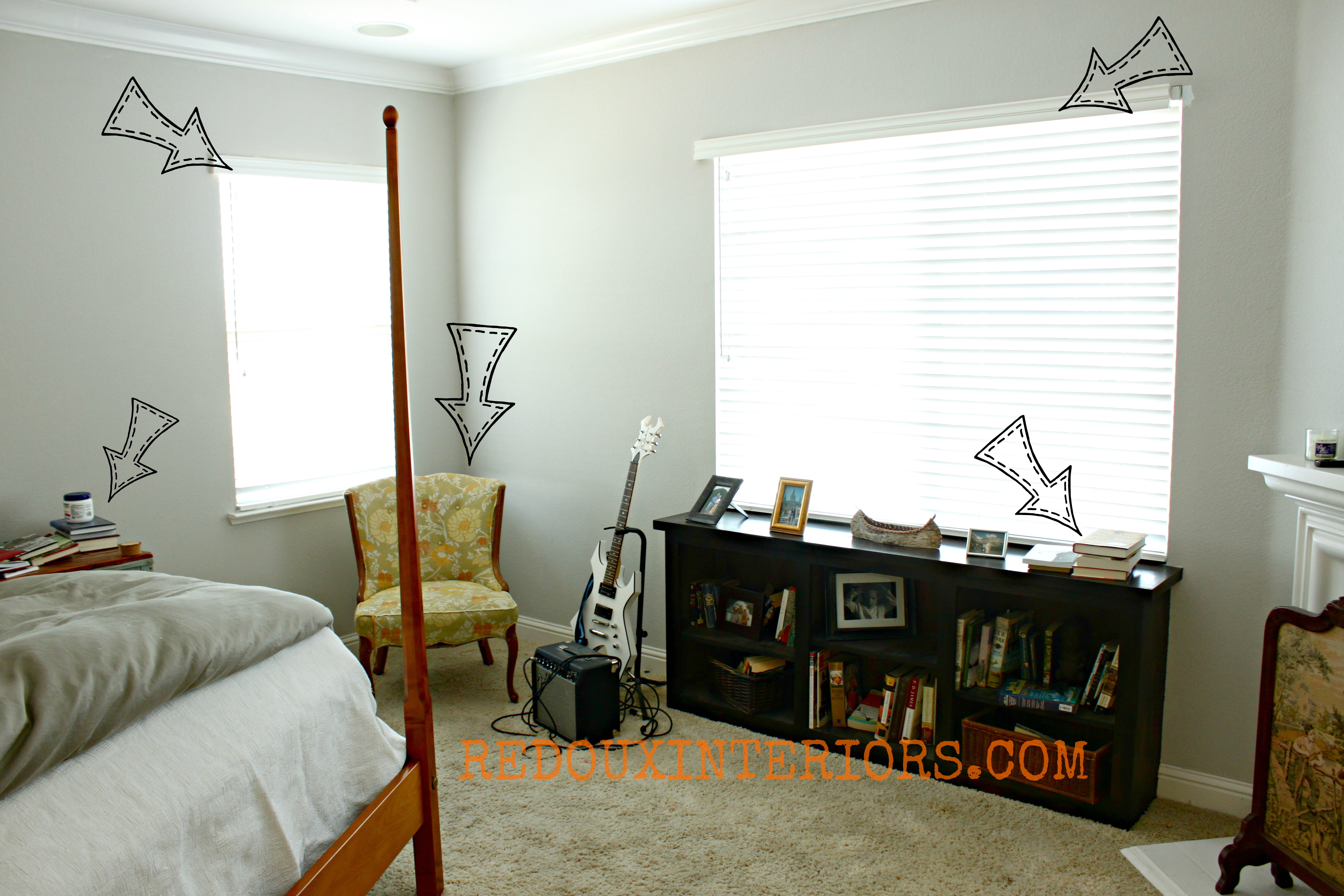 Bedroom Before Curtains And More