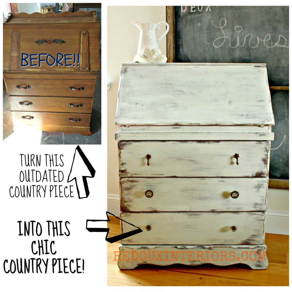 Before and after secretary cece caldwells redouxinteriors