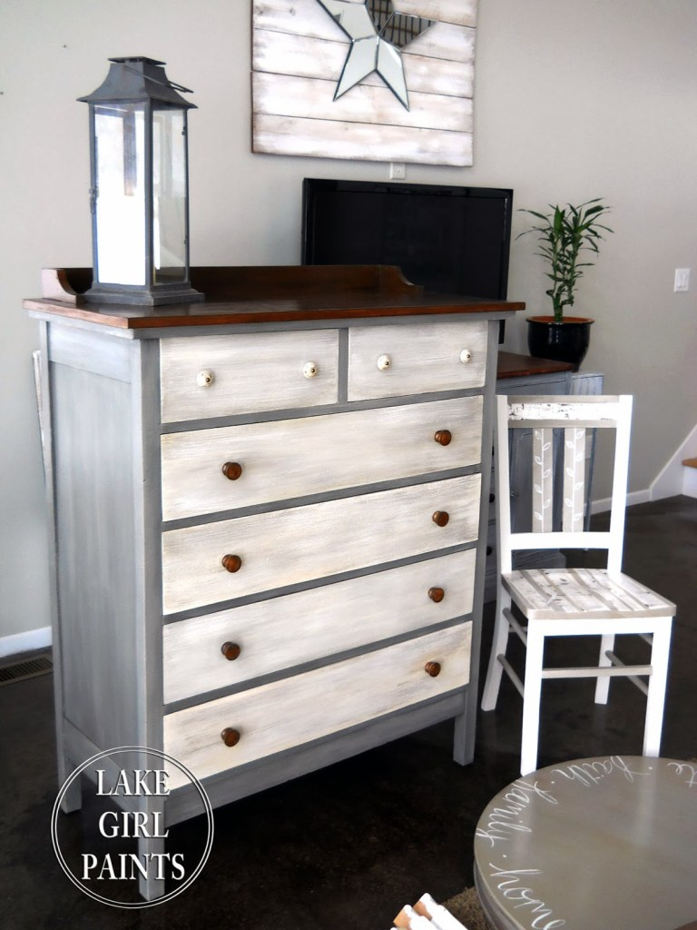 Natural Stone and Gray Dresser