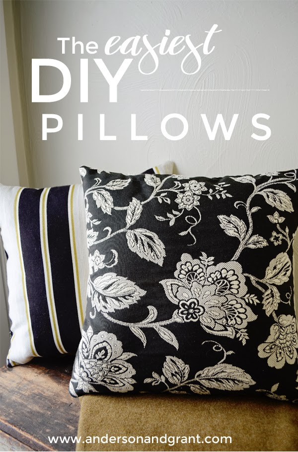 The easiest DIY Pillows Title