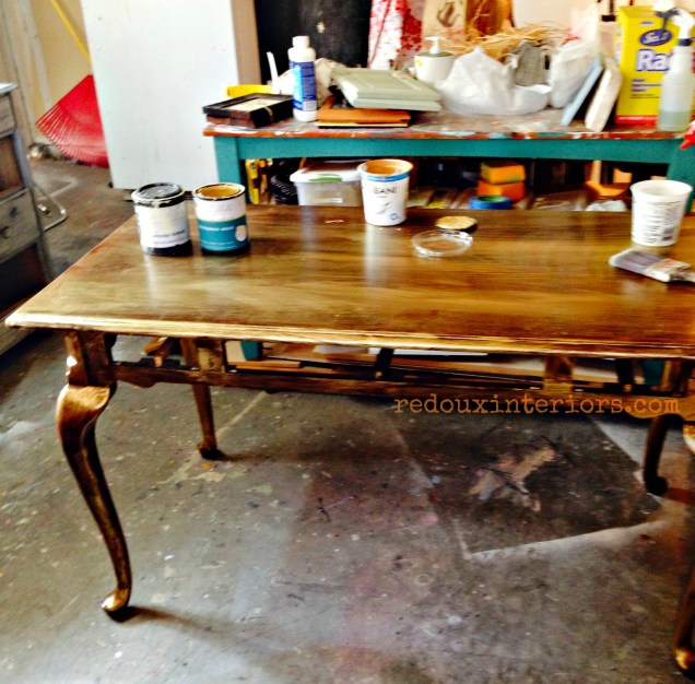 Free French Table modern masters gold base redouxinteriors