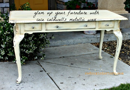 French table in gold and cece caldwells johnston daffodil glam redouxinteriors