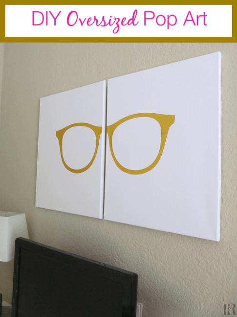 Oversized glasses pop art