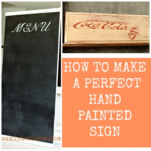 How to make a perfect hand painted sign redouxinteriors