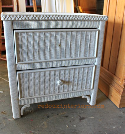 dumpster wicker chest redouxinteriors