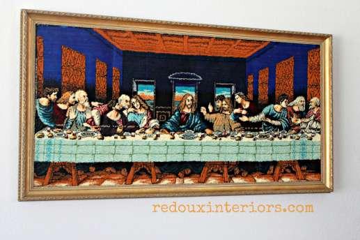last supper black velvet redouxinteriors