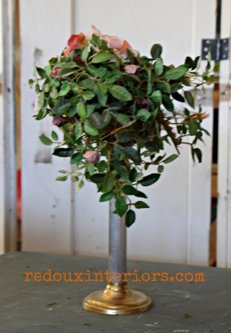dumpster found floral topiary redouxinteriors