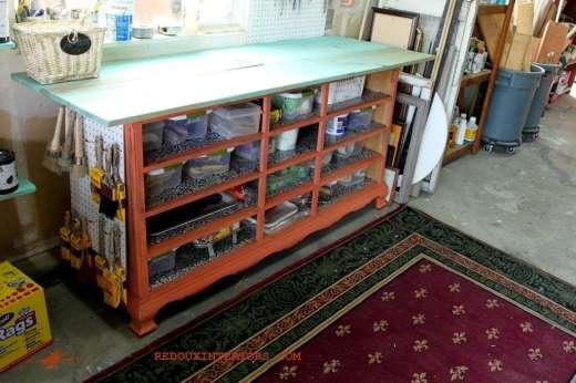 Dresser missing drawers turned workbench redouxinteriors