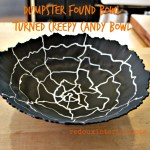 Dumpster bowl turned Halloween candy bowl redouxinteriors