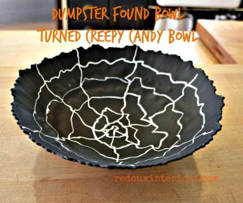 Dumpster bowl turned Halloween candy bowl redouxinteriors